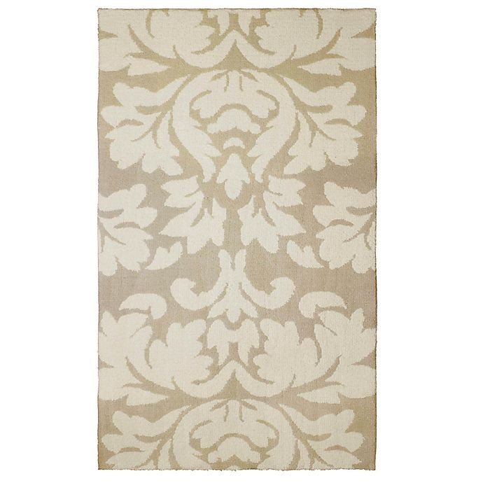 Alternate image 1 for Laura Ashley® Kent Knit 8-Foot x 11-Foot Area Rug in Taupe