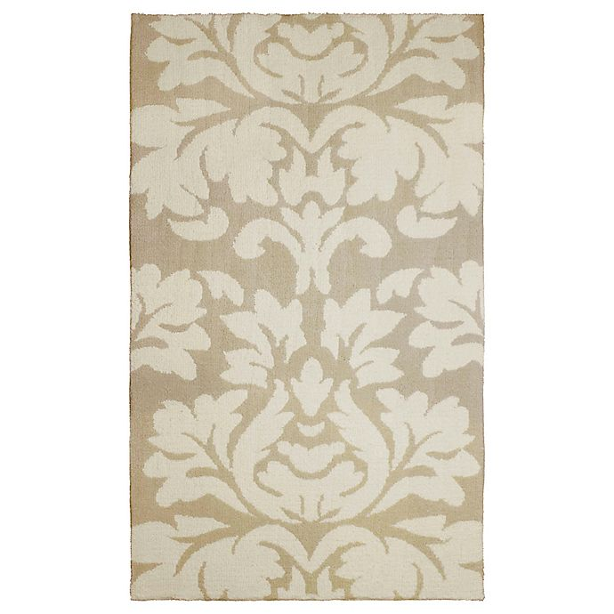 Alternate image 1 for Laura Ashley® Kent Knit 2-Foot 3-Inch x 3-Foot 9-Inch Accent Rug in Taupe