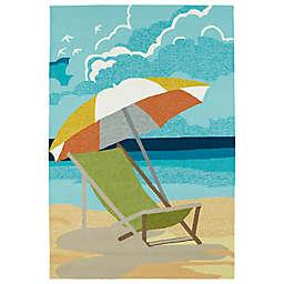 Kaleen Sea Isle Beach Chair Multicolor Indoor/Outdoor Area Rug