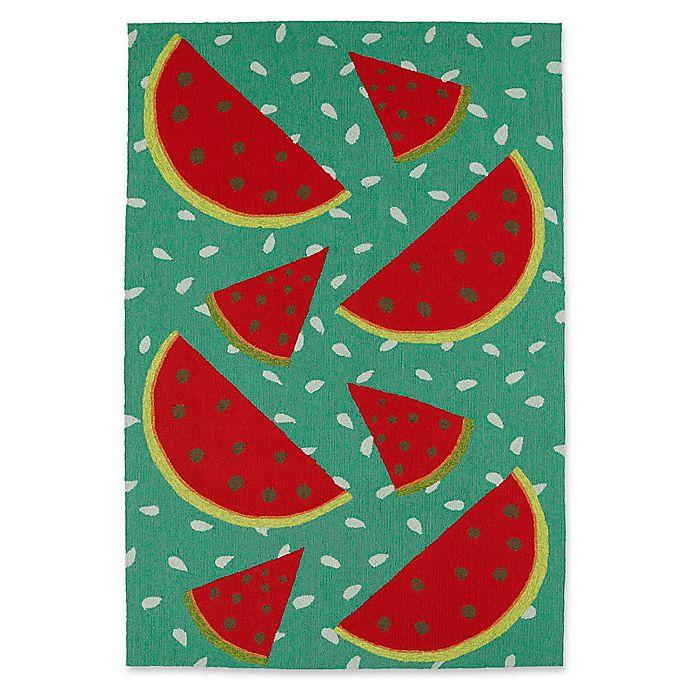 Alternate image 1 for Kaleen Sea Isle Watermelon 9-Foot x 12-Foot Indoor/Outdoor Area Rug in Green