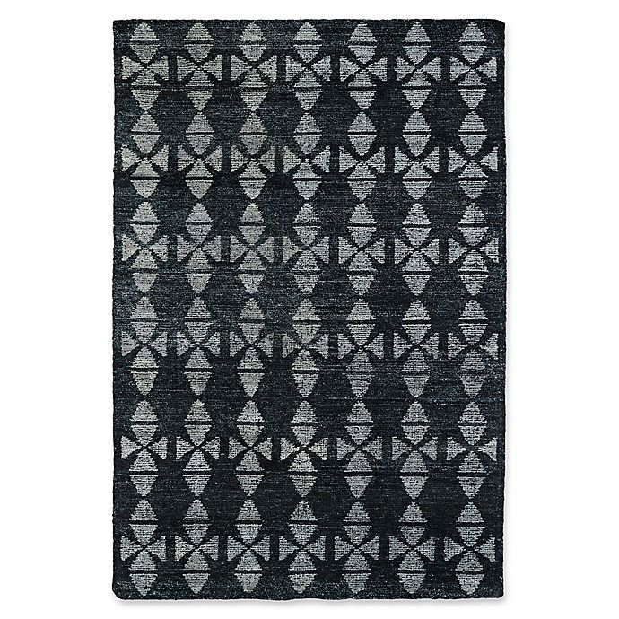 Alternate image 1 for Kaleen Solitaire Tribal 9-Foot 6-Inch x 13-Foot Area Rug in Charcoal