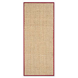 Safavieh Natural Fiber Johanna 2-Foot 6-Inch x 4-Foot Accent Rug in Natural/Black