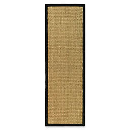 Safavieh Natural Fiber Johanna 2-Foot 6-Inch x 8-Foot Runner in Natural/Black