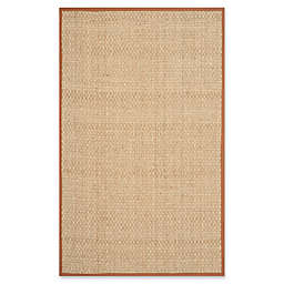 Safavieh Natural Fiber Johanna 5-Foot x 8-Foot Area Rug in Natural/Brown