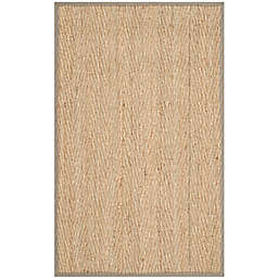 Safavieh Natural Fiber Mackenzie 2-Foot 4-Inch x 4-Foot Accent Rug in Natural/Grey