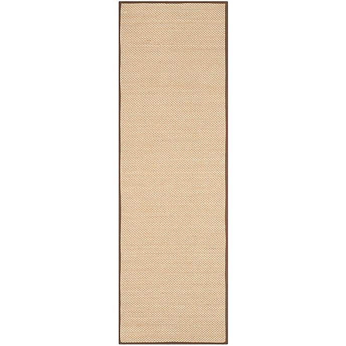 Alternate image 1 for Safavieh Natural Fiber Willow 2-Foot 6-Inch x 8-Foot Runner in Maize/Brown