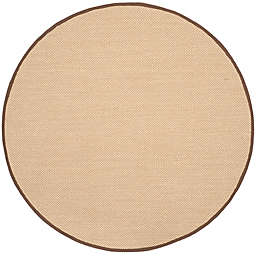 Safavieh Natural Fiber Willow 6-Foot Round Area Rug in Maize/Brown