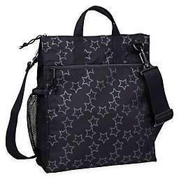 Lassig Casual Stroller Bag in Reflective Star Black