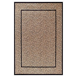 Concord Global Leopard 2'7 x 4' Accent Rug in Beige