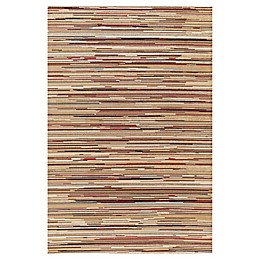 Concord Global Trading Striation Stripes 2'7 x 4' Multicolor Rug