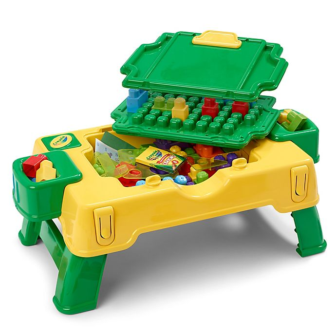Alternate image 1 for Crayola® Building Blocks 30-Piece 2-in-1 Activity Table