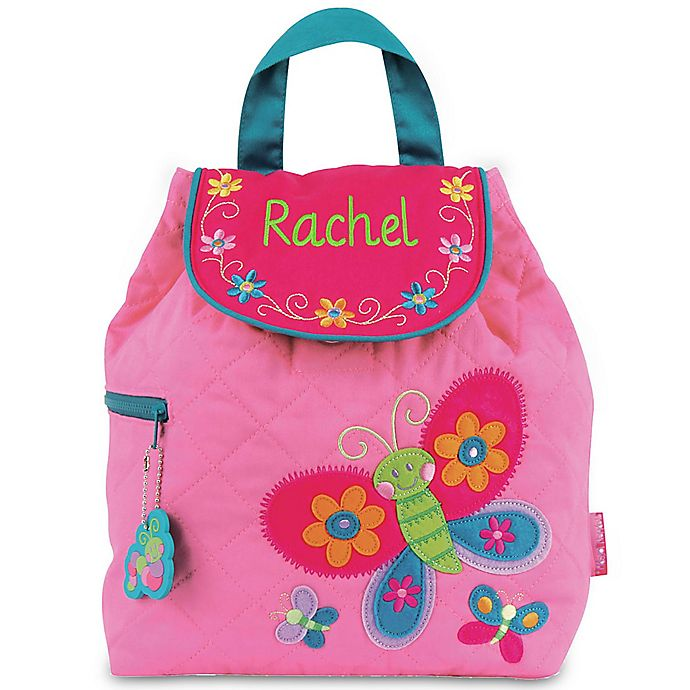 Alternate image 1 for Stephen Joseph® Butterfly Quilted Backpack in Pink