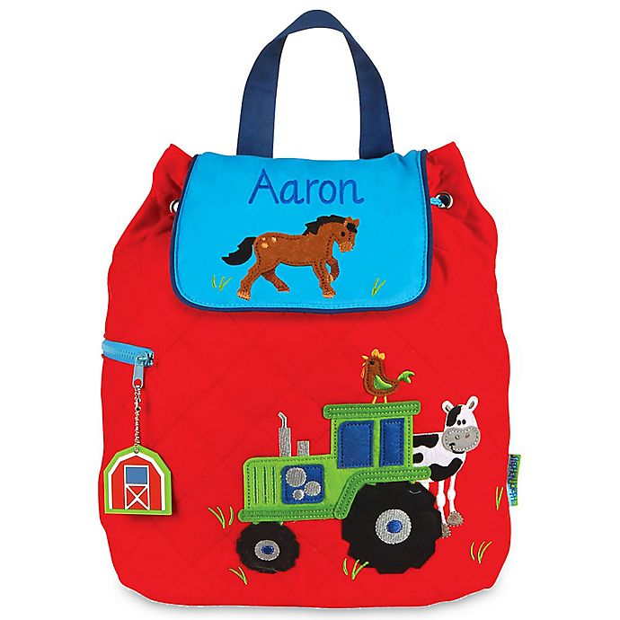 Alternate image 1 for Stephen Joseph® Farm Quilted Backpack in Red