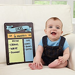 My Baby Month By Month Dry Erase Sign
