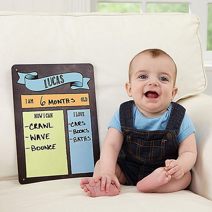 Alternate image 1 for My Baby Month By Month Dry Erase Sign