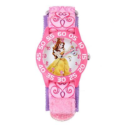 Disney® Belle Children's 32mm Time Teacher Watch with Pink Nylon Strap