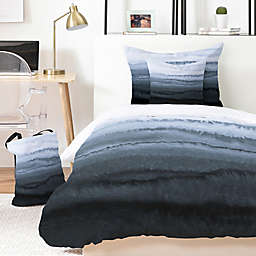 Deny Designs Monika Strigel Within the Tides Stormy Weather Duvet Cover Set in Grey