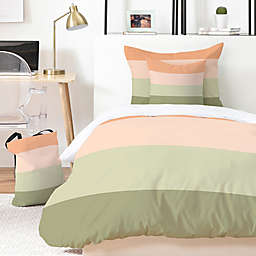 Deny Designs Spring Stripes 4-Piece Twin/Twin XL Duvet Cover Set in Green