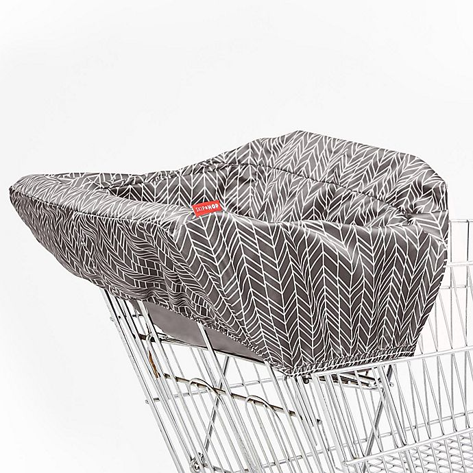 Alternate image 1 for SKIP*HOP® Feather Take Cover Shopping Cart and High Chair Cover in Grey