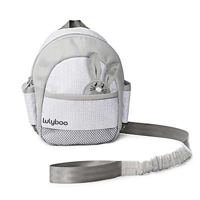 LulyBoo Toddler Safety Harness with Backpack in Grey