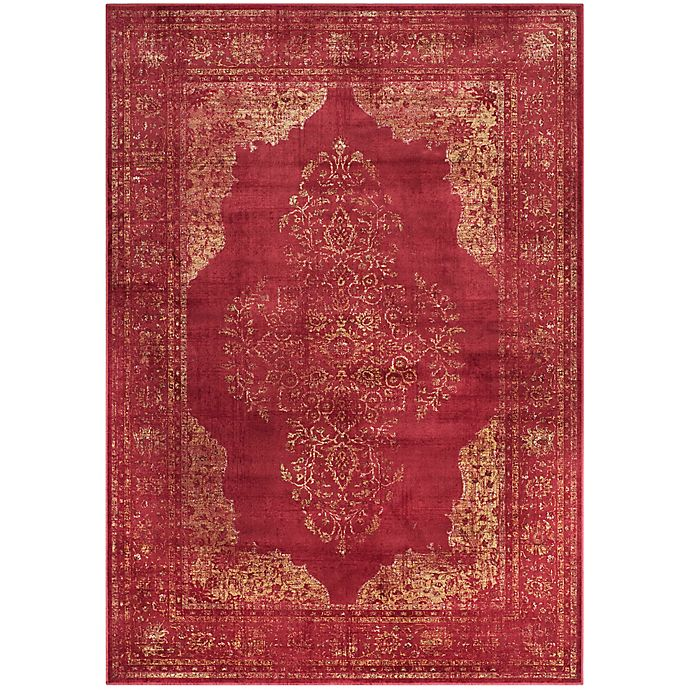 Alternate image 1 for Safavieh Vintage Brittany 6-Foot 7-Inch x 9-Foot 2-Inch Area Rug in Rose