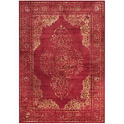 Safavieh Vintage Brittany 6-Foot 7-Inch x 9-Foot 2-Inch Area Rug in Rose