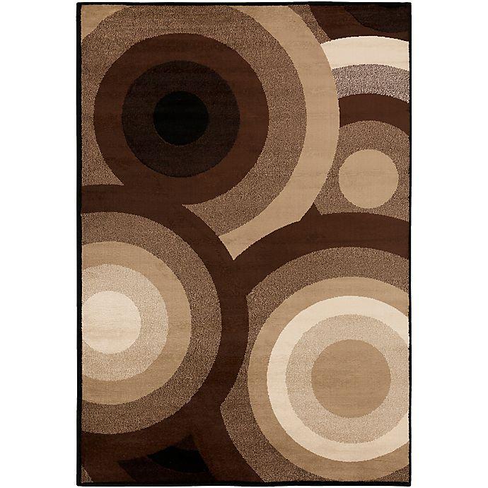 Alternate image 1 for Surya Peroz Circles 5-Foot 3-Inch x 7-Foot 6-Inch Area Rug in Dark Brown