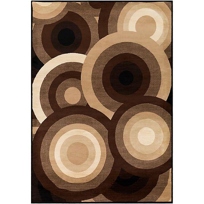 Alternate image 1 for Surya Peroz Circles 8-Foot 10-Inch x 12-Foot 9-Inch Area Rug in Dark Brown
