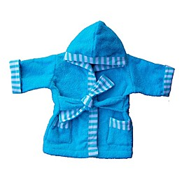 Whimsical Charm Size 24M Baby Bathrobe in Aqua