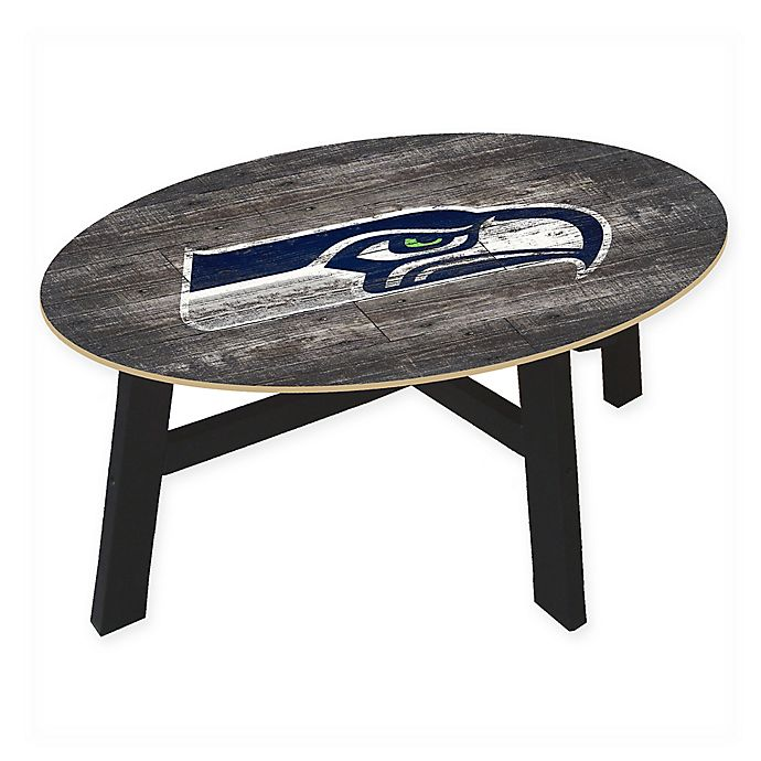 Nfl Seattle Seahawks Distressed Wood Coffee Table Bed Bath
