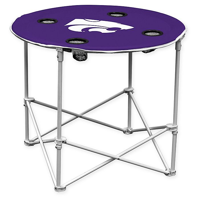 Alternate image 1 for Kansas State University Round Collapsible Table