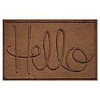 Weather Guard™  Hello  24-Inch x 36-Inch Door Mat in Dark Brown
