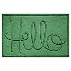 Weather Guard™  Hello  24-Inch x 36-Inch Door Mat in Light Green