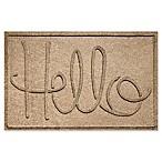 Weather Guard™  Hello  24-Inch x 36-Inch Door Mat in Camel