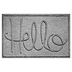 Weather Guard™  Hello  24-Inch x 36-Inch Door Mat in Grey