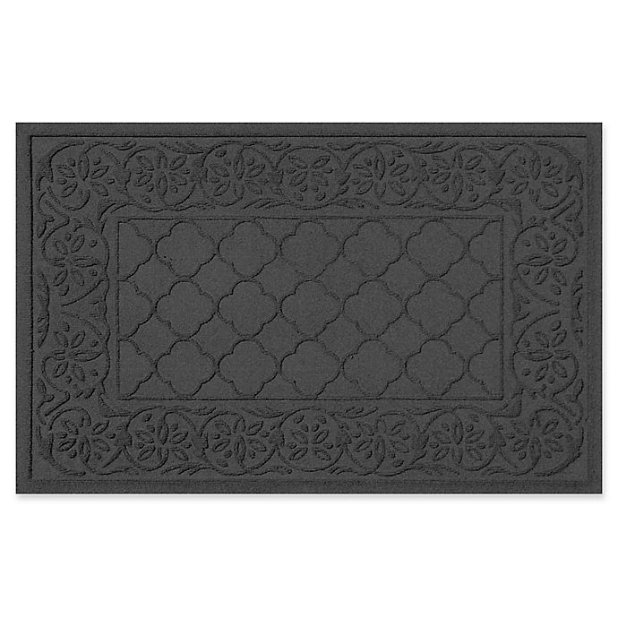 Alternate image 1 for Weather Guard™ Rosalie 24-Inch x 36-Inch Door Mat in Charcoal