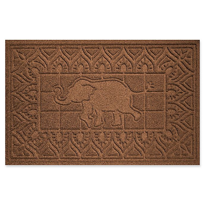 Alternate image 1 for Weather Guard™ Elephant 24-Inch x 36-Inch Door Mat in Dark Brown