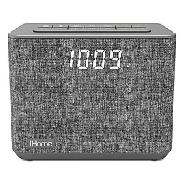 iHome™ FM Bluetooth Alarm Clock in Grey with USB Port