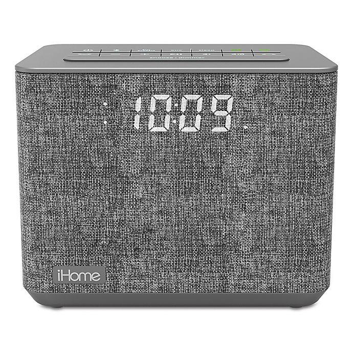 1dace01ee2b9 iHome™ FM Bluetooth Alarm Clock in Grey with USB Port