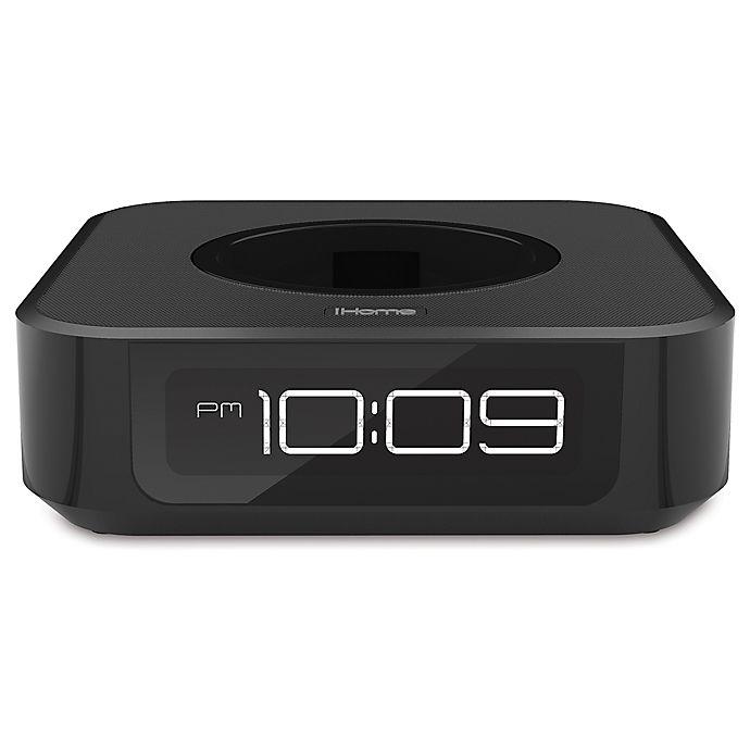 Alternate image 1 for iHome® Docking Bedside Speaker for Amazon Echo Dot in Black