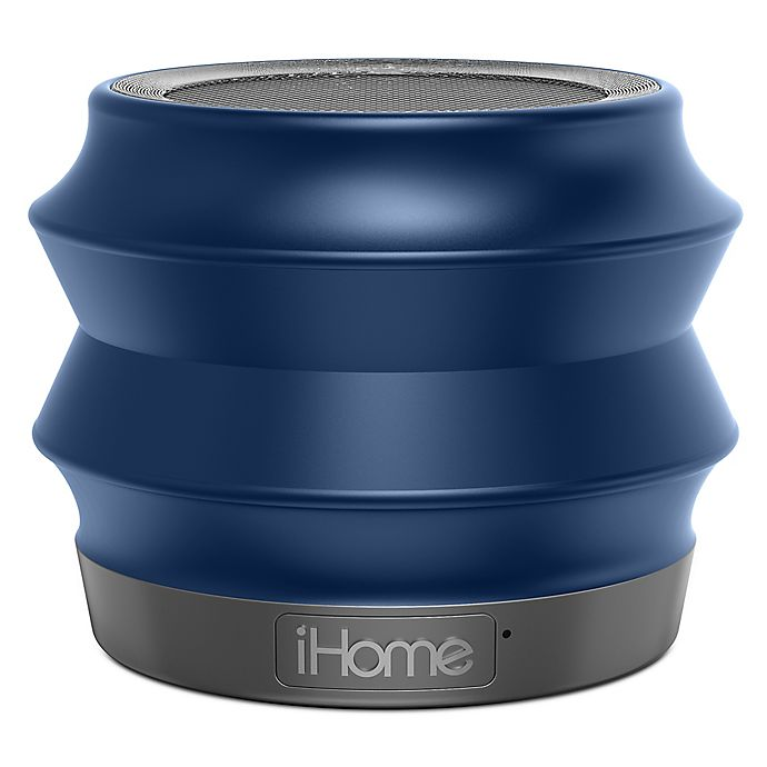 Alternate image 1 for iHome™ Collapsible Blutetooth Portable Speaker in Blue