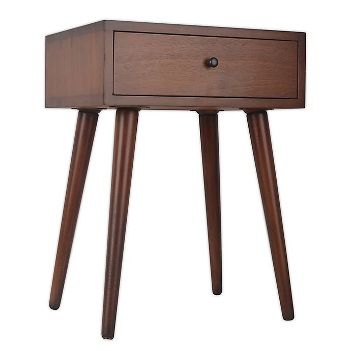 Alternate image 1 for Decor Therapy Mid-Century 1-Drawer Accent Table with Walnut Finish