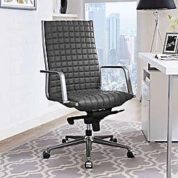 Modway Pattern Vinyl Highback Office Chair