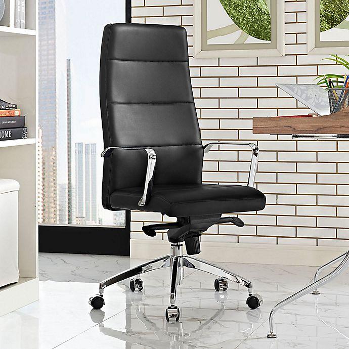 Alternate image 1 for Modway Stride Vinyl Highback Office Chair in Black