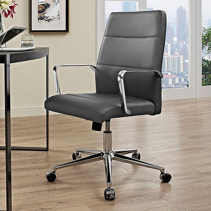 Alternate image 1 for Modway Stride Vinyl Mid-Back Office Chair in Grey