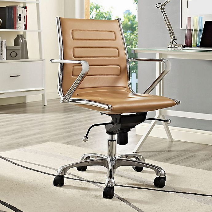 Alternate image 1 for Modway Ascend Vinyl Mid-Back Rolling Office Chair