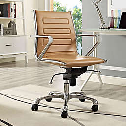 Modway Ascend Vinyl Mid-Back Rolling Office Chair