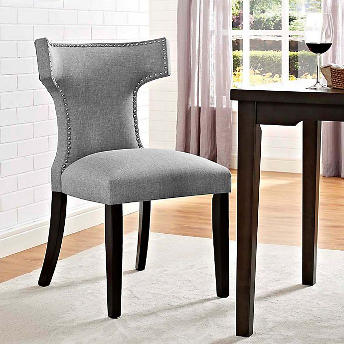 Alternate image 1 for Modway Curve Dining Side Chair in Light Grey