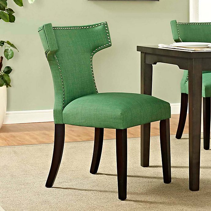 Alternate image 1 for Modway Curve Dining Side Chair in Green