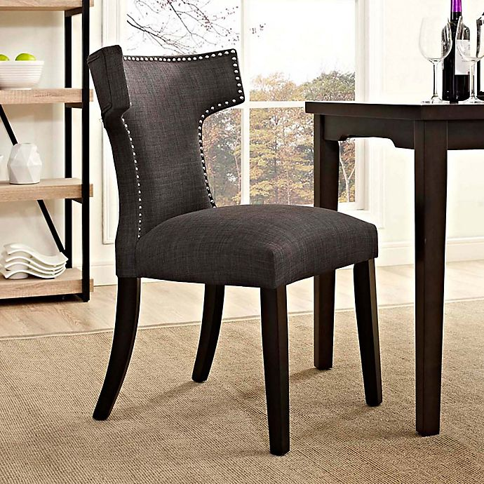 Alternate image 1 for Modway Curve Dining Side Chair in Brown